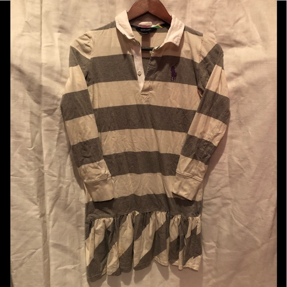 Ralph Lauren Other - Ralph Lauren Rugby Dress stripe gray white XL 16